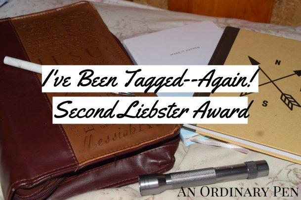 Liebster award second tag header