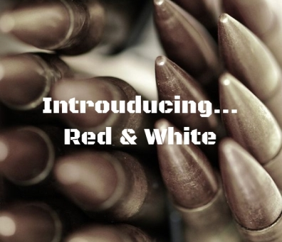 Red and White blog header