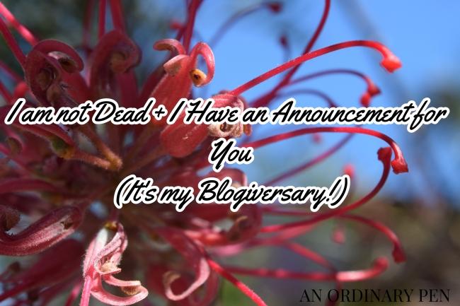 I am not Dead blog header